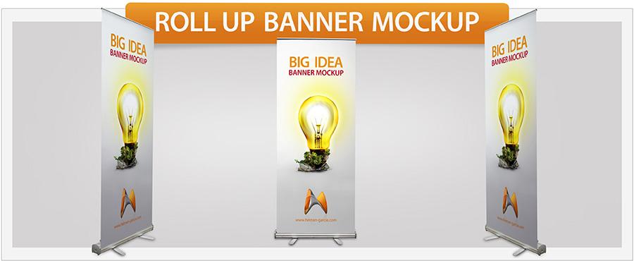 Roll-Up Banner Mockup - 1